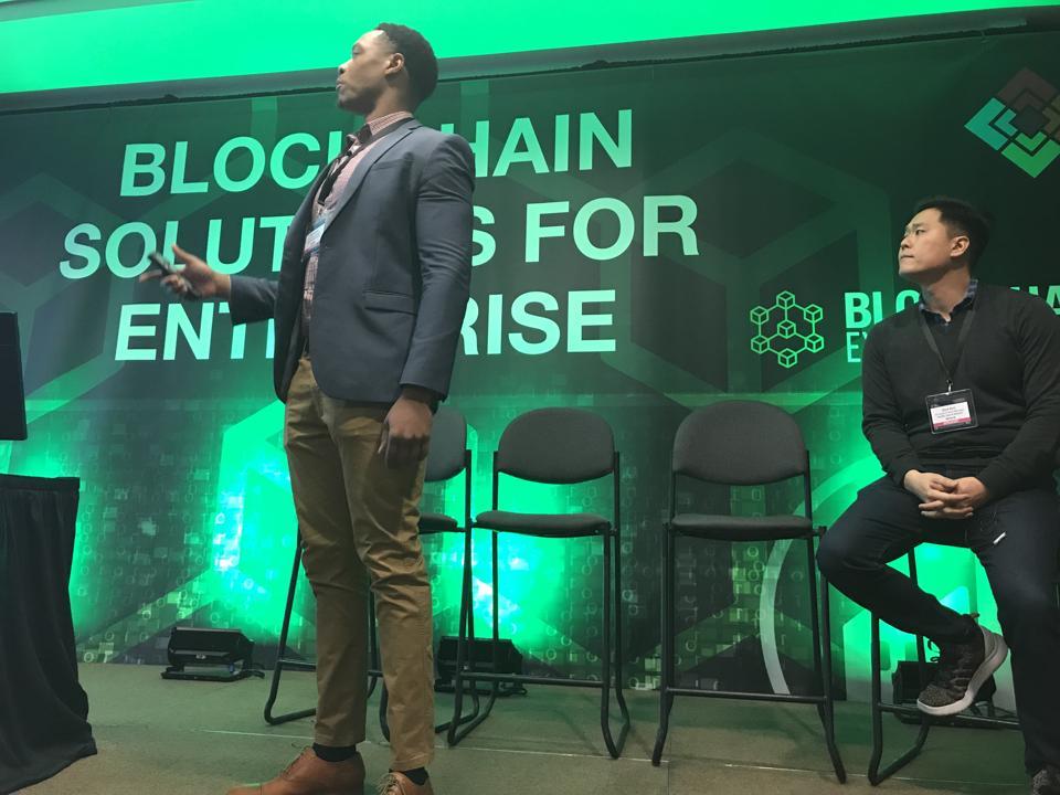 CK Umachi and Dick Kim, two 'blockheads', talk Blockchain at PG&E