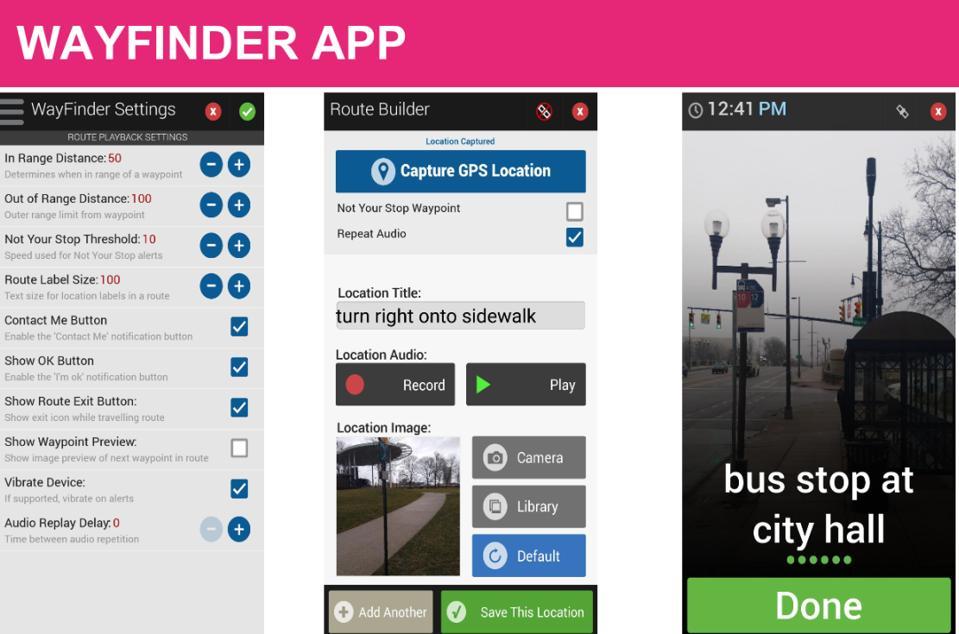 Wayfinder interface
