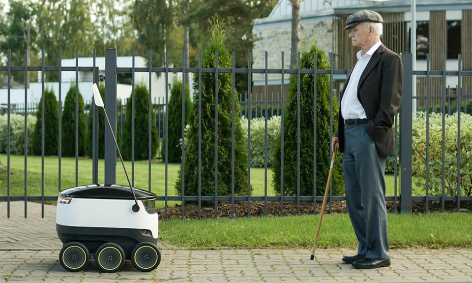 Starship Technologies sidewalk delivery robots make food deliveries on college campuses