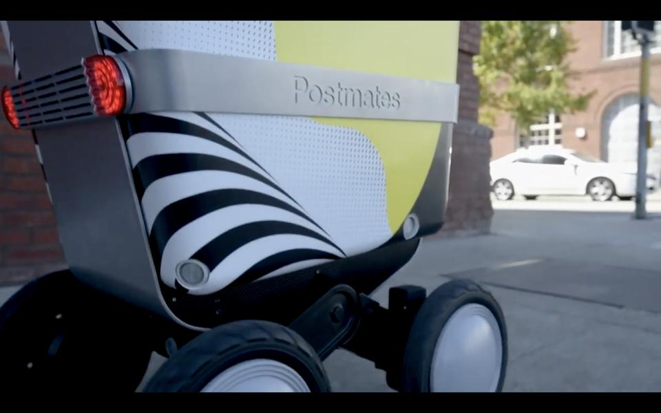 Postmates Delivery Robot in teleoperations pilot powered by Phantom Auto