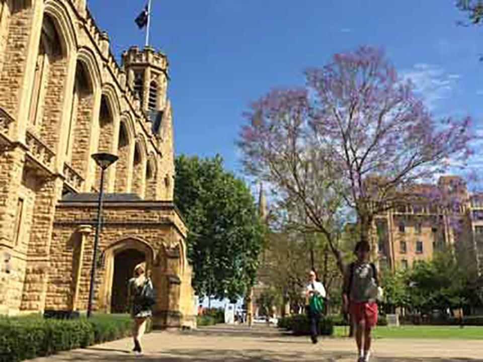 The University of Adelaide uses a chatbot to let prospective students know whether they're eligible to apply.