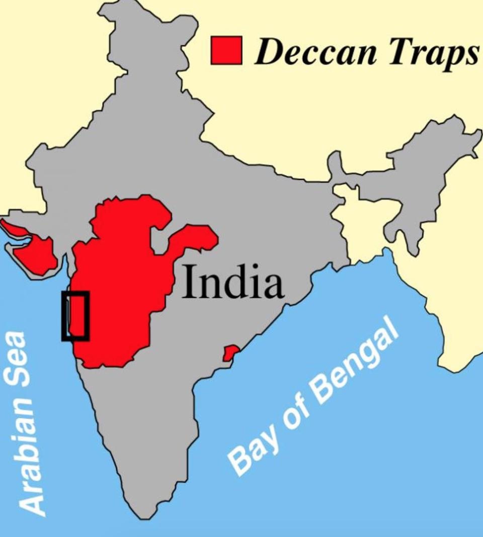 Size of the Deccan Traps in India
