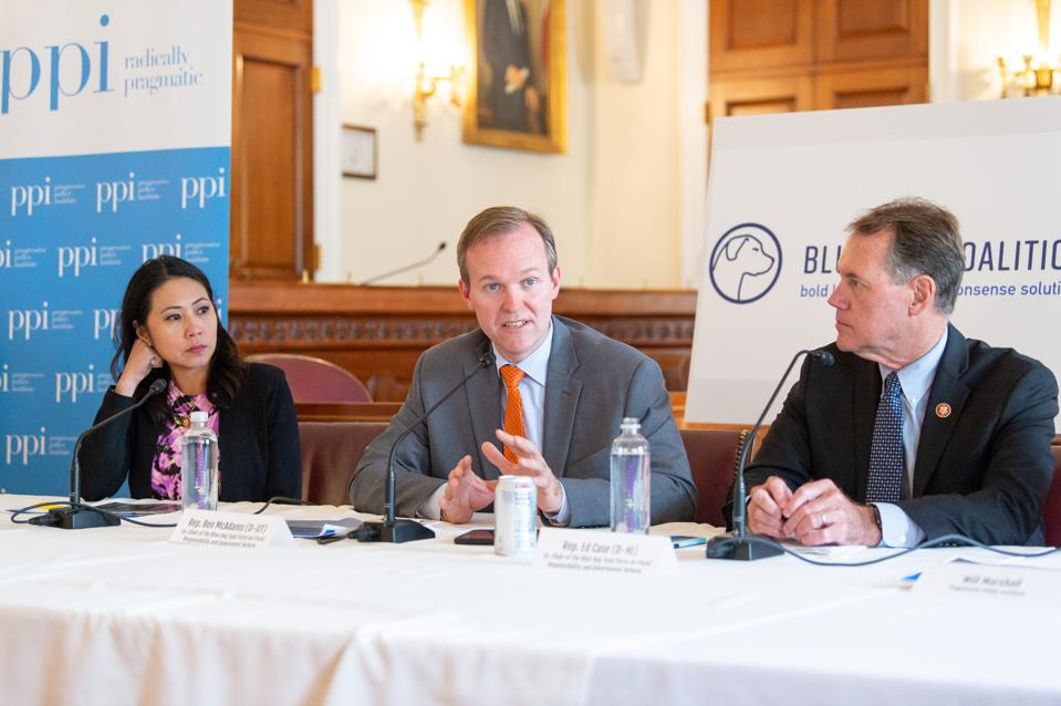 Reps. Stephanie Murphy, Ben McAdams, and Ed Case speak at a fiscal forum sponsored by PPI.