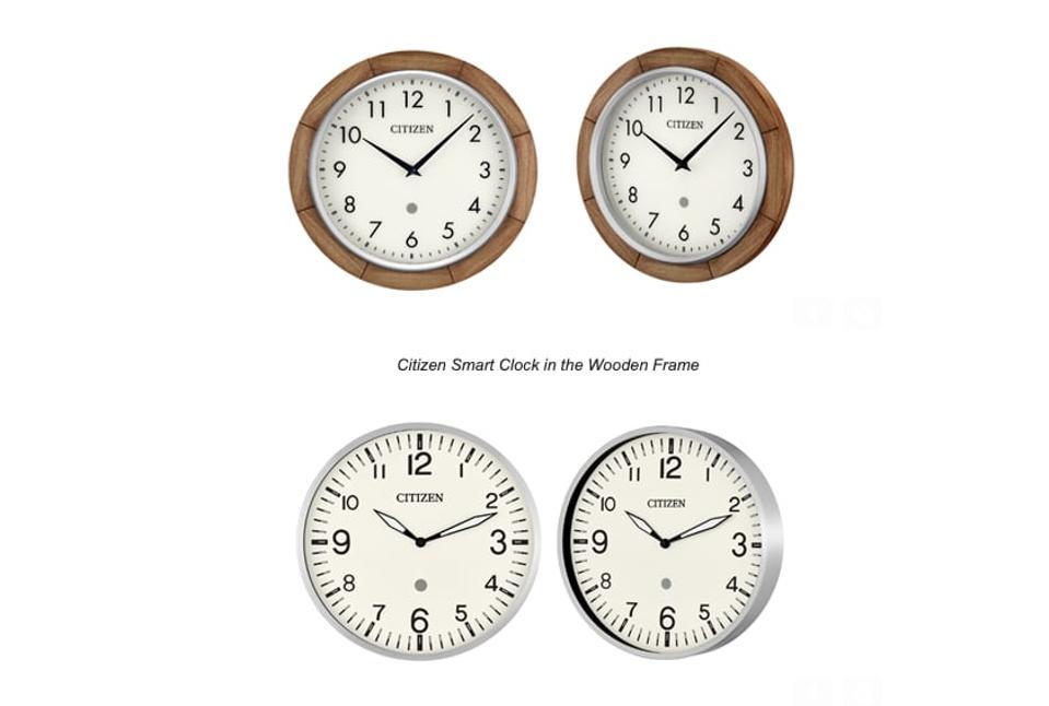 Citizen's new smart clocks, with Amazon Alexa built in.