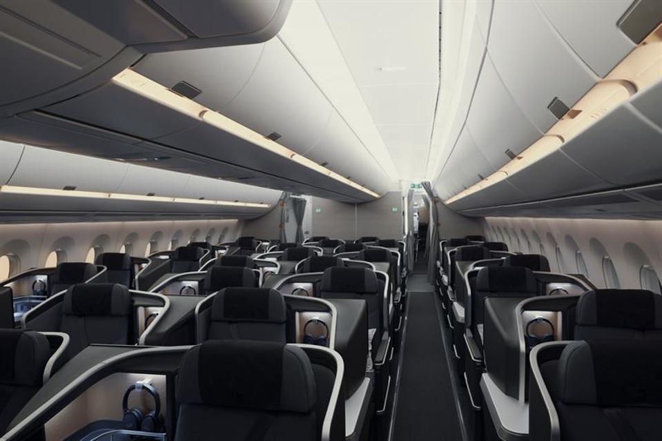 SAS A350 interior.