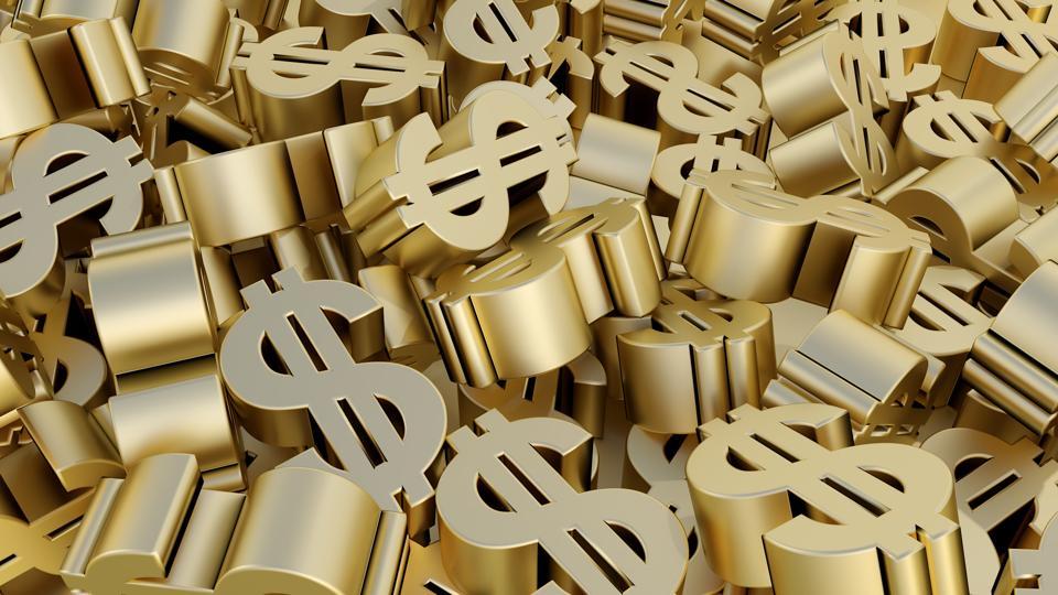 dollar sign money gold finance sale buy saving economy 3D illustration