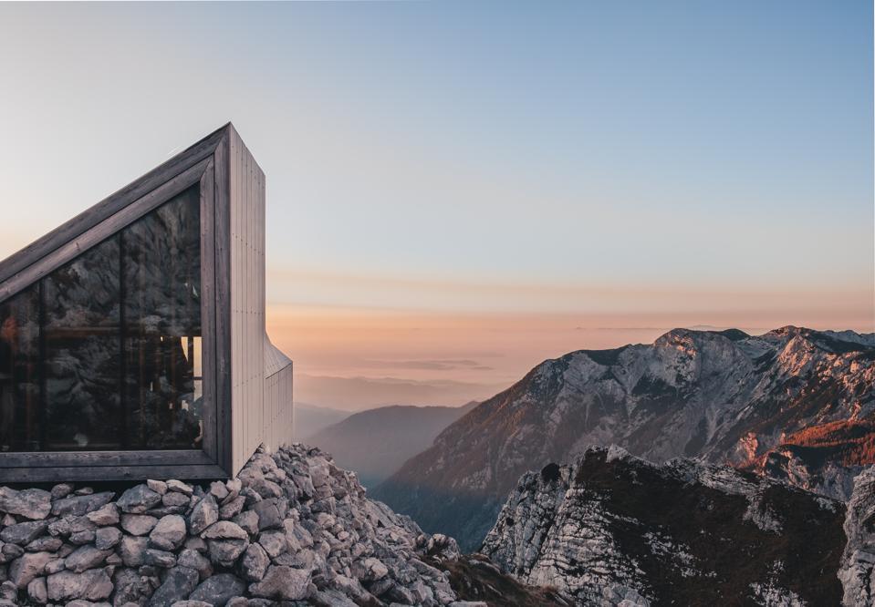 House atop mountain
