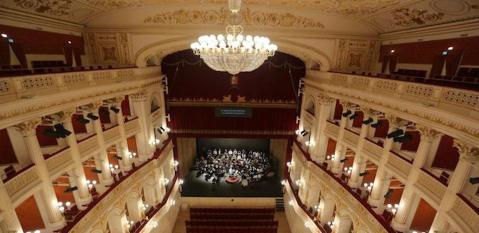 Interior of Teatro Galli