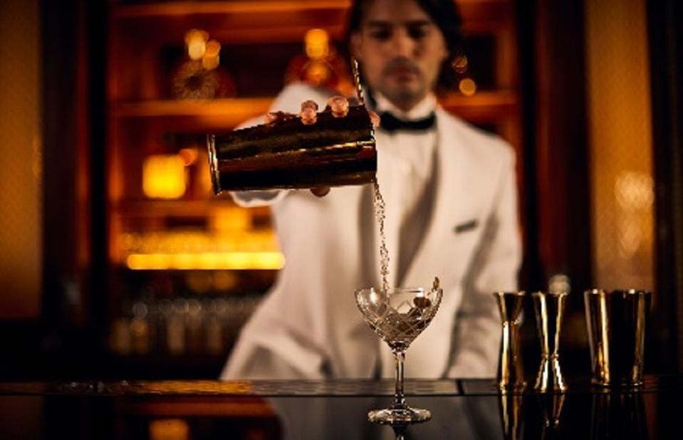 PR Bartender Pouring Martini