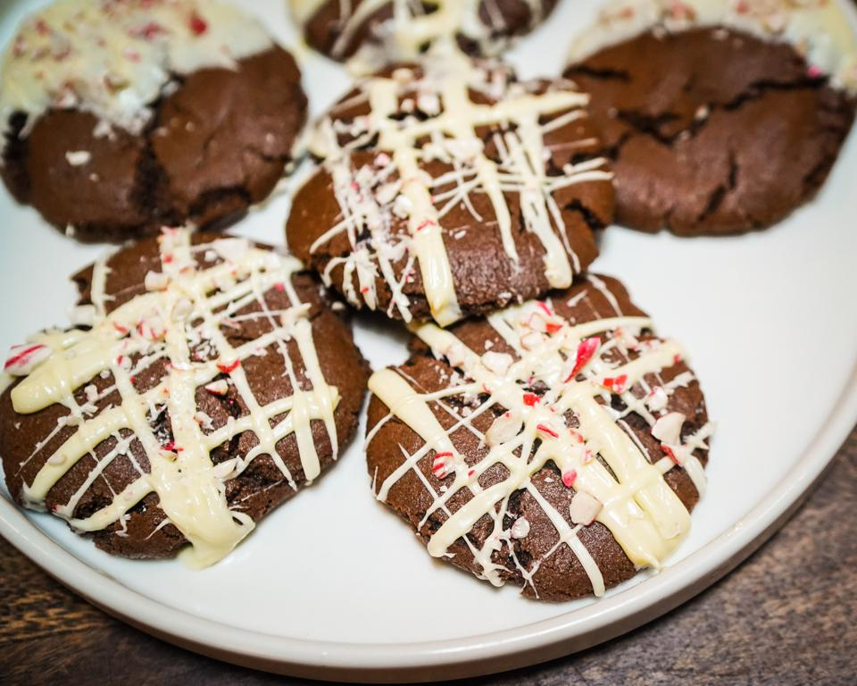 Boozy Chocolate Candy Cane (BCC) Cookies