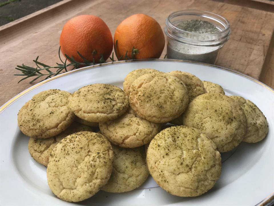 Orange Snickerdoodles With Candied Rosemary Sugar