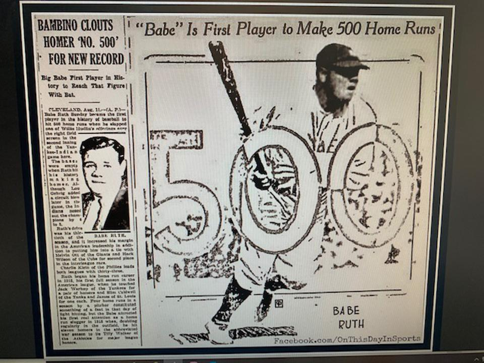 Ruth was the first to hit 500 home runs.