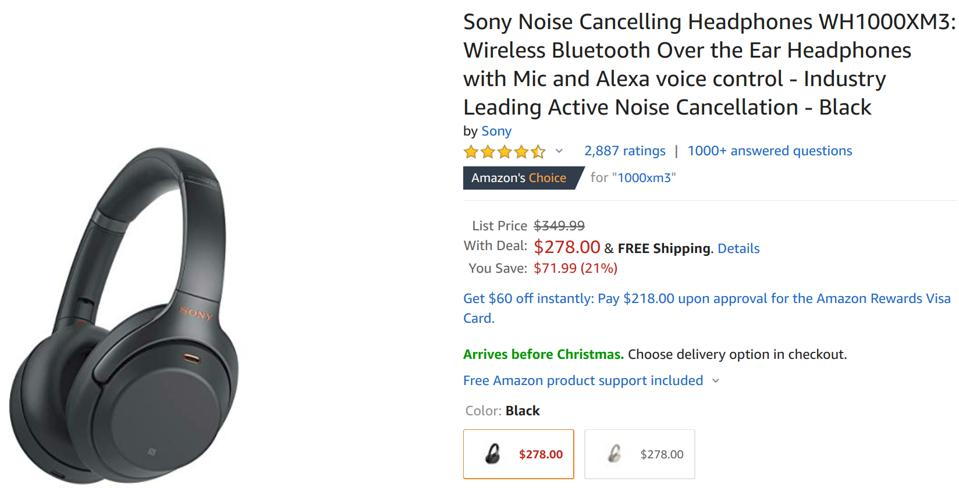 Sony's WH1000-XM3, noise cancelling headphones, noise cancelling headphones sale,