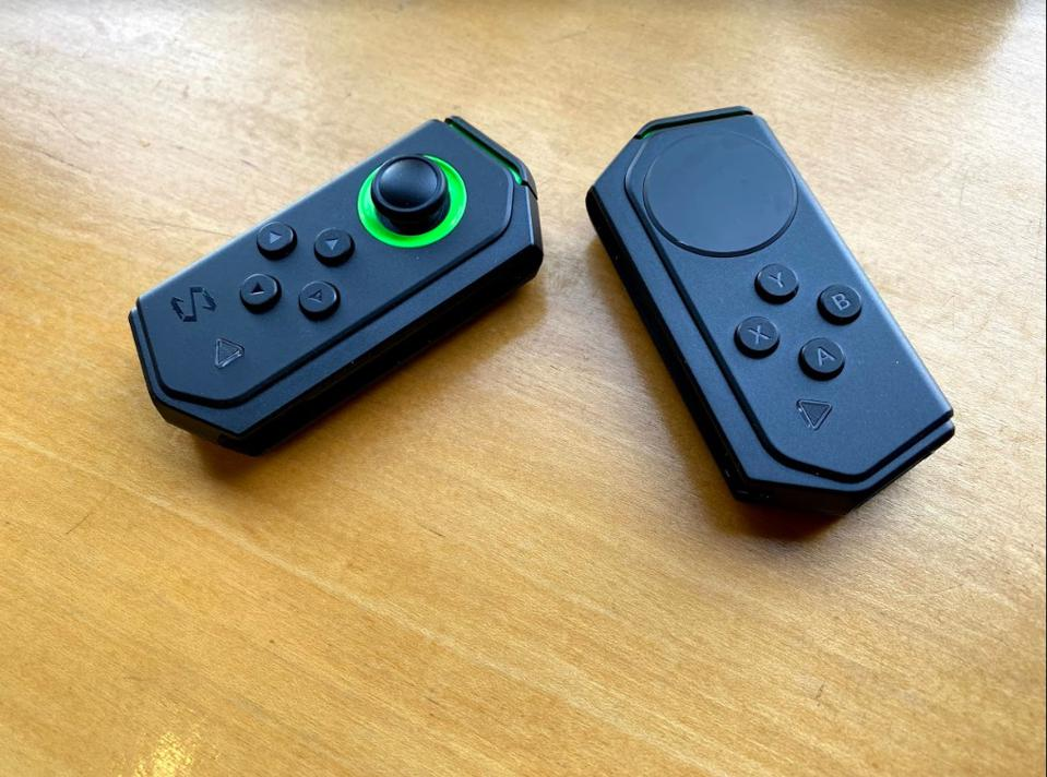 The gamepads.