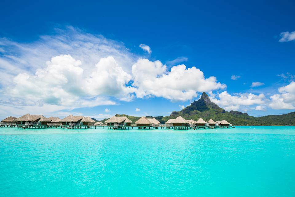 overwater bungalows Bora Bora