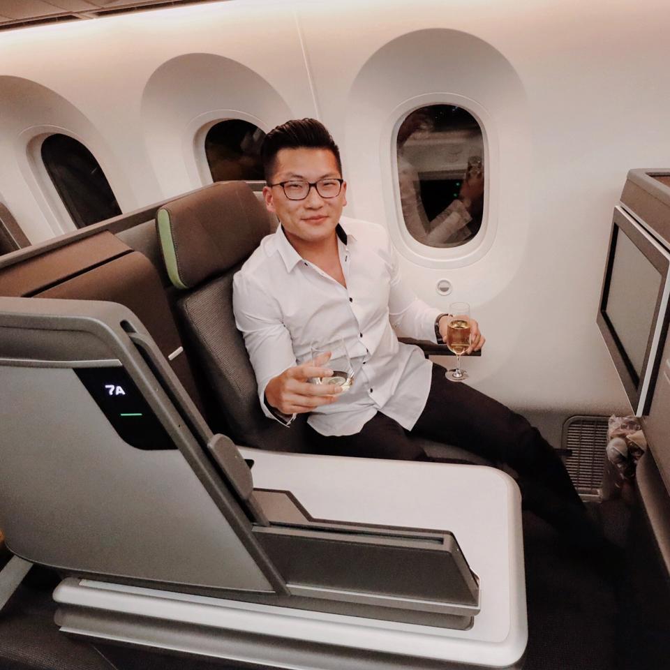 787 dreamliner, eva air, business class, first class, travel, points, miles, flight hacking