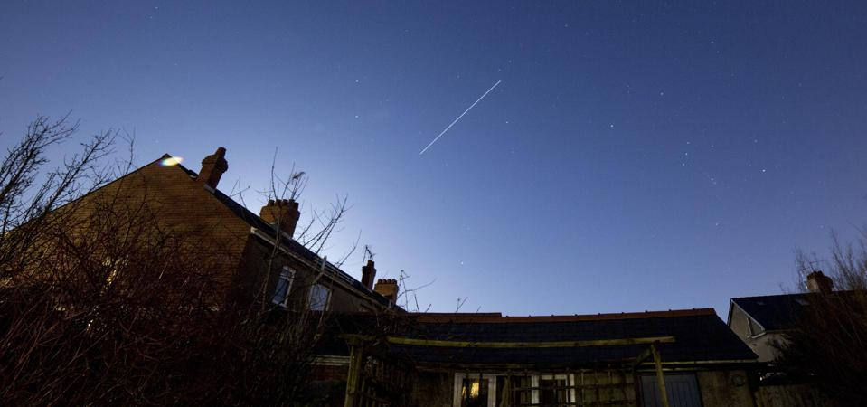 The ISS over Cardiff, Wales, January 31, 2018.