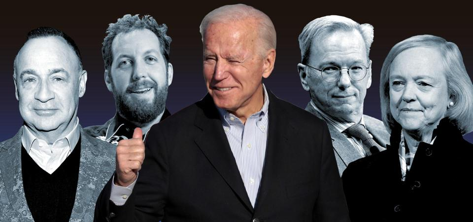 Billionaires backing Joe Biden's presidential campaign.