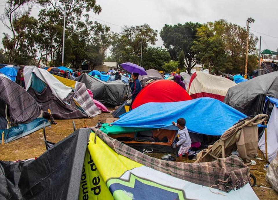 Families migrating from Central America to the U.S. set up makeshift camps in border cities like Tijuana, Mexico, one of the most violent cities in the world.