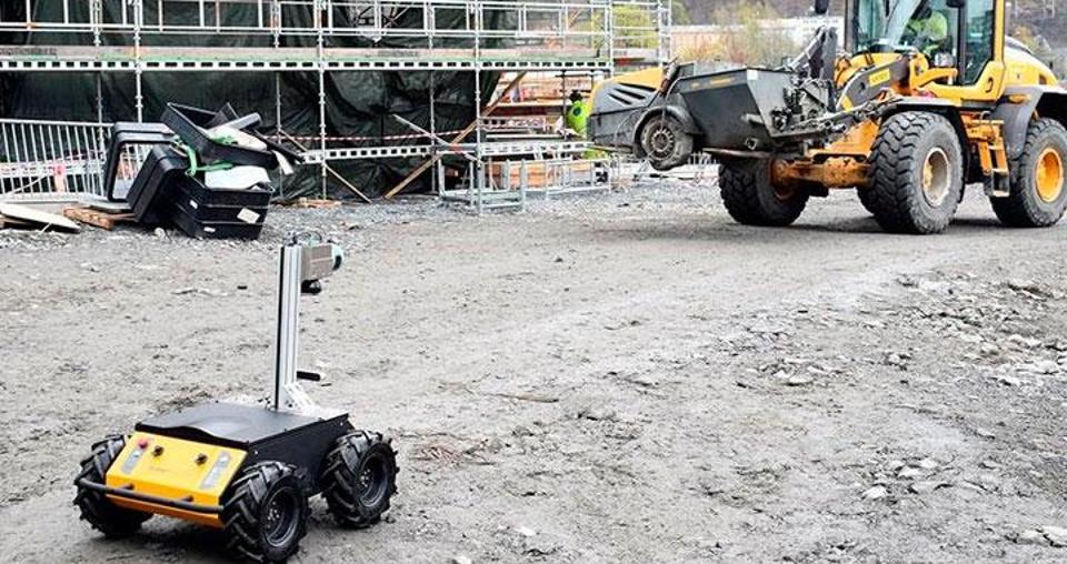 Scaled Robotics robot on a construction site