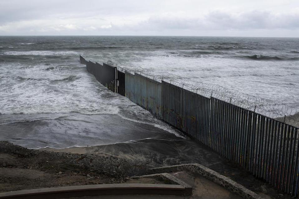 The U.S./Mexico border wall in Tijuana, Mexico.