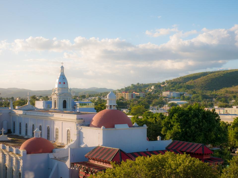 The old town of the city of Ponce in Puerto Rico, United States.