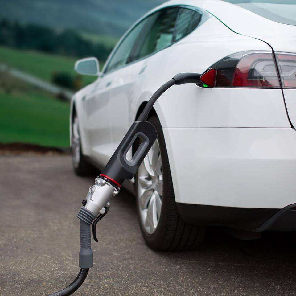 Tesla and charge adapter