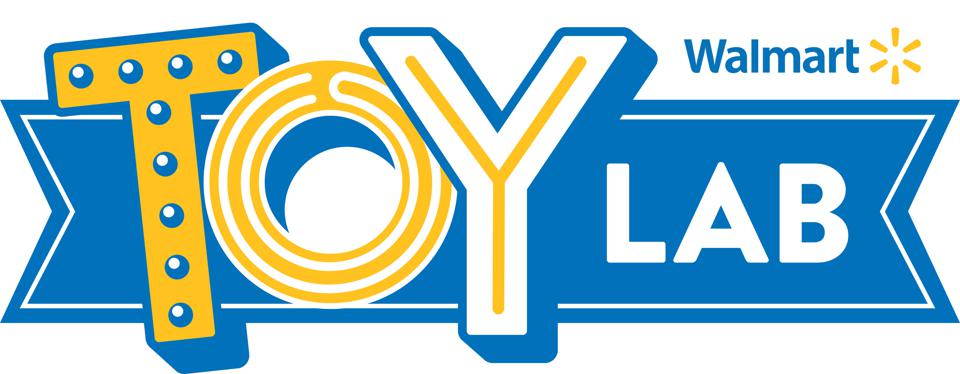 The logo of the Walmart Toy Lab