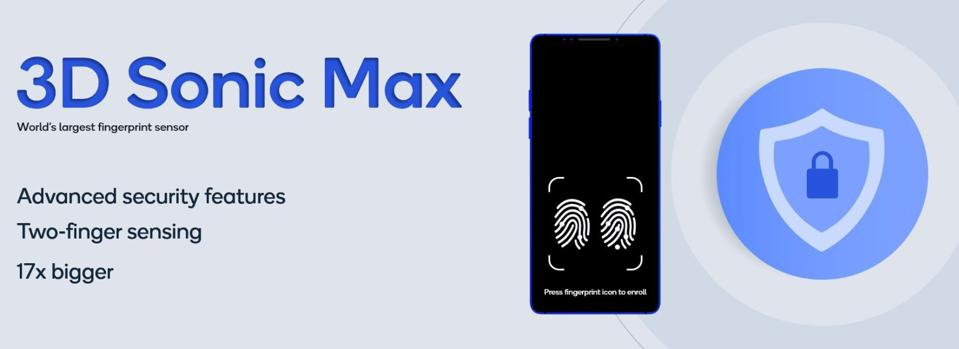 Qualcomm fingerprint sensor, Qualcomm 3D Sonic Max Galaxy S11,