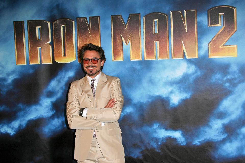 Robert J Downey Jr at the 'Iron Man 2' film Photocall, Four Seasons, Beverly Hills, CA