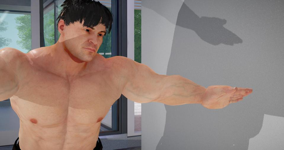 The ″Brute″ avatar model from Daz 3D for use in Sinespace.