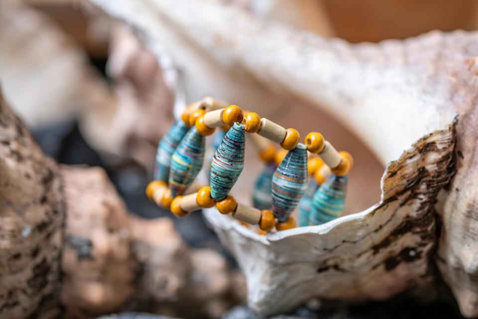 Recycled paper jewelry