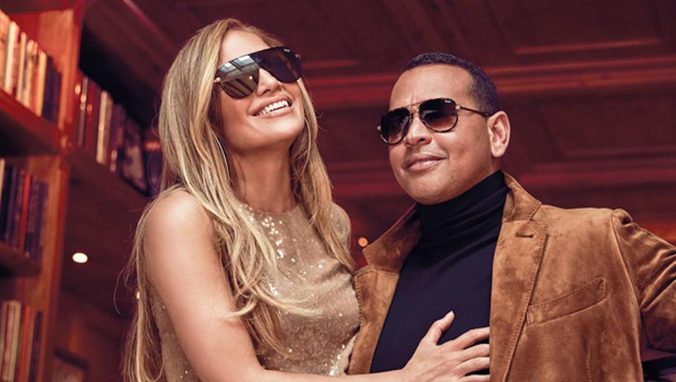 Jennifer Lopez and Alex Rodriguez for Quay Australia.