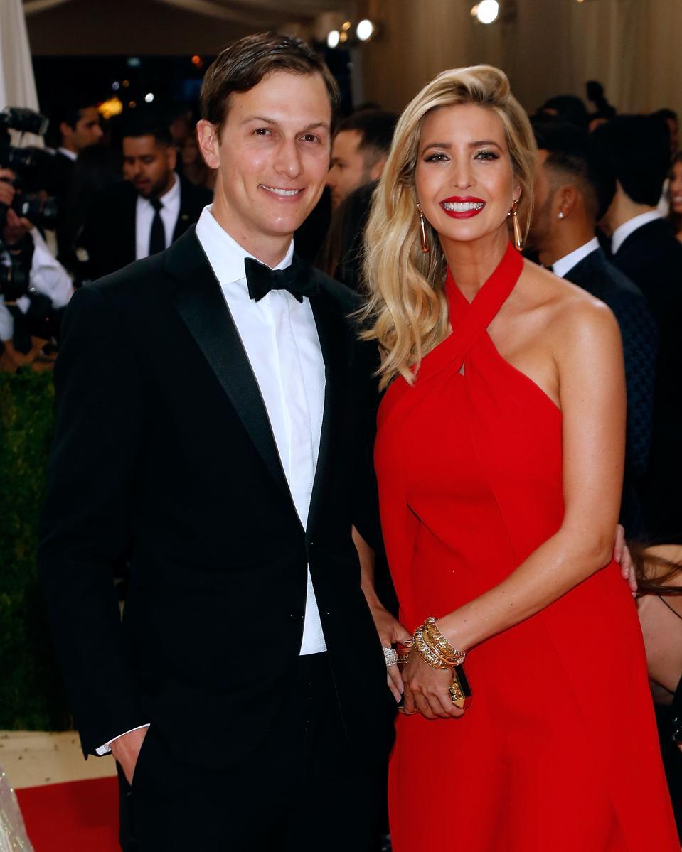 Kushner and his wife, businesswoman Ivanka Trump.