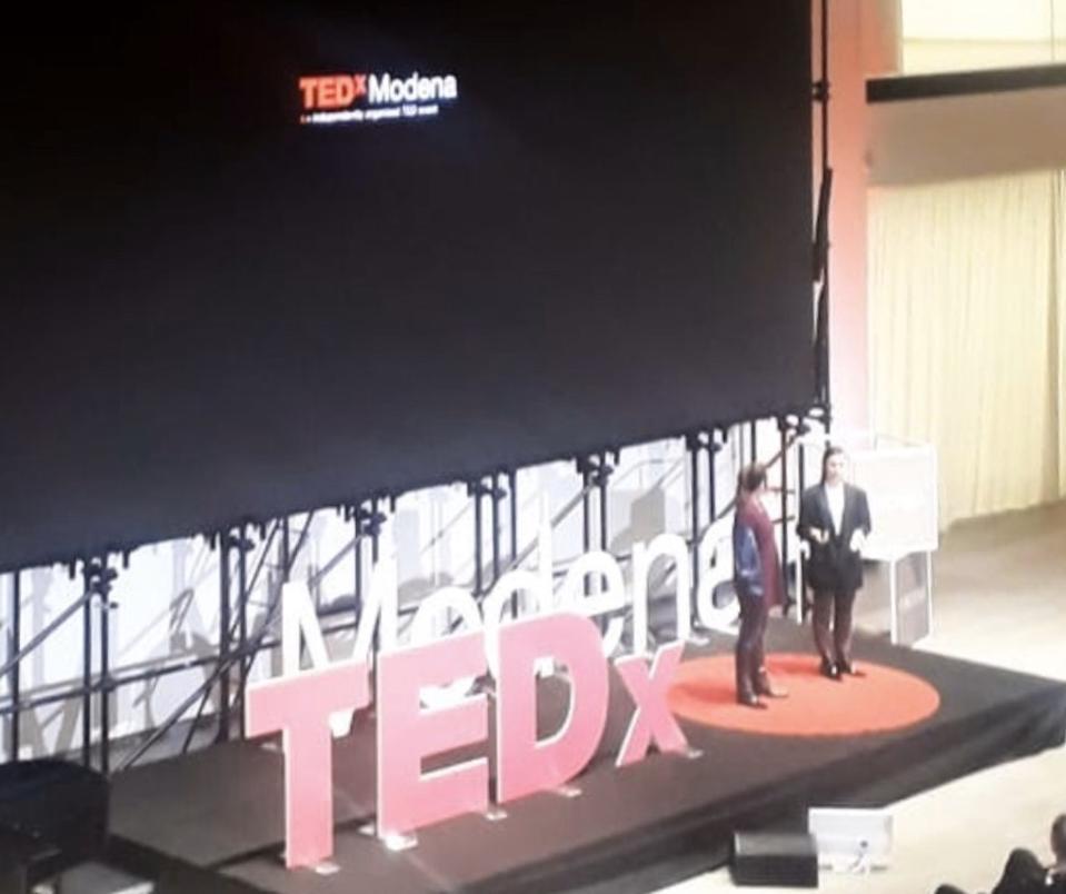 Marta Pozzan and Oretta Corbelli at TEDx.