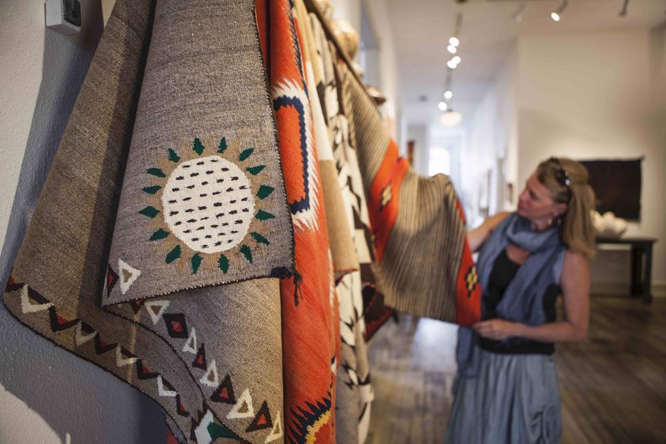 Shiprock Santa Fe  Navajo Blanket