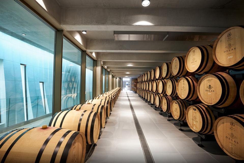 Delas Frères barrel room
