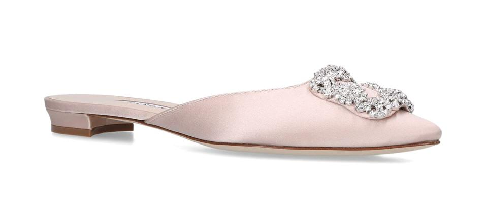 Satin Hangisi Slippers by Manolo Blahnik