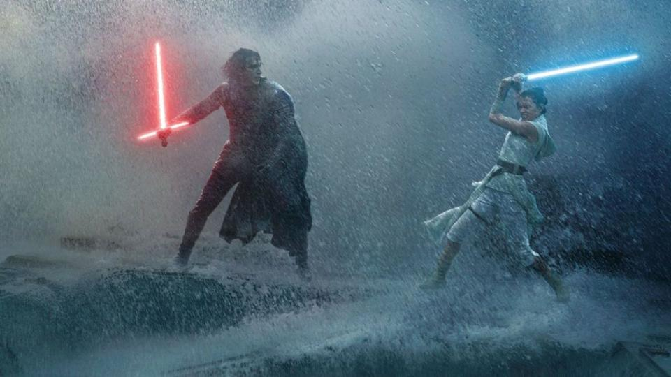 Adam Driver and Daisy Ridley in Walt Disney and Lucasfilm's 'Star Wars The Rise of Skywalker'