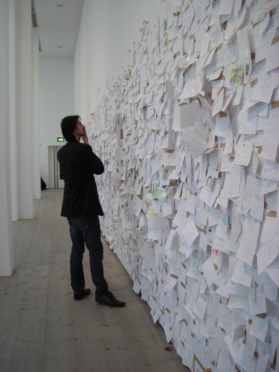 Memory wall by Yoko Ono