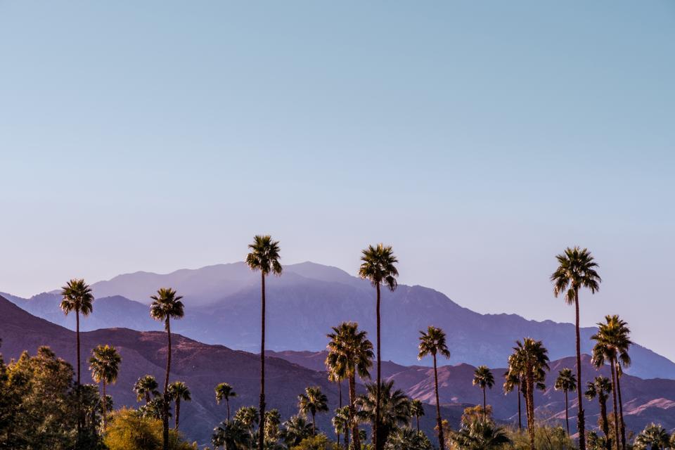 Palm Springs Scenic San Jacinto Mountain Landscape