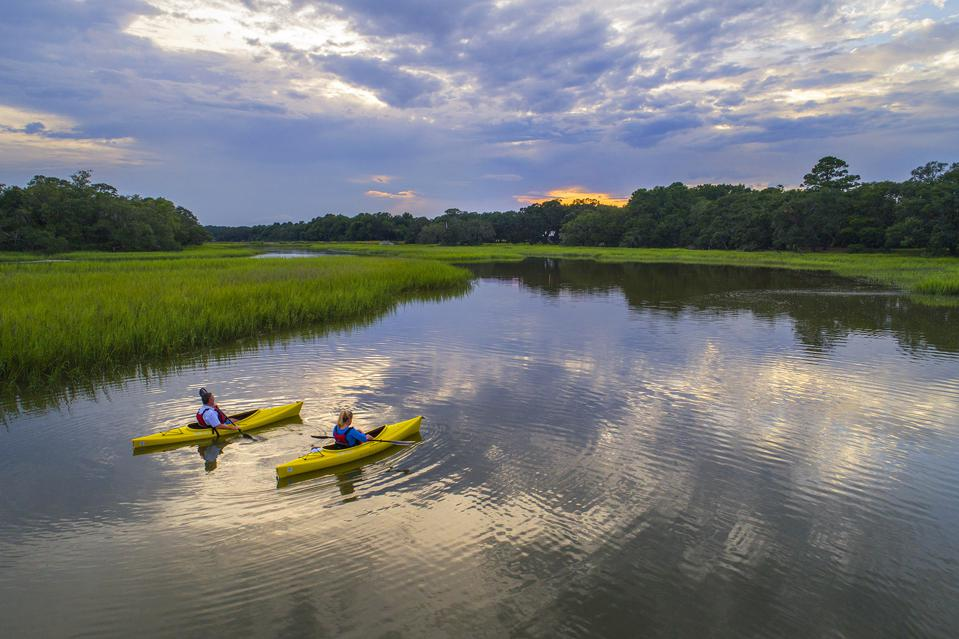 Kayaking at Kiawah River