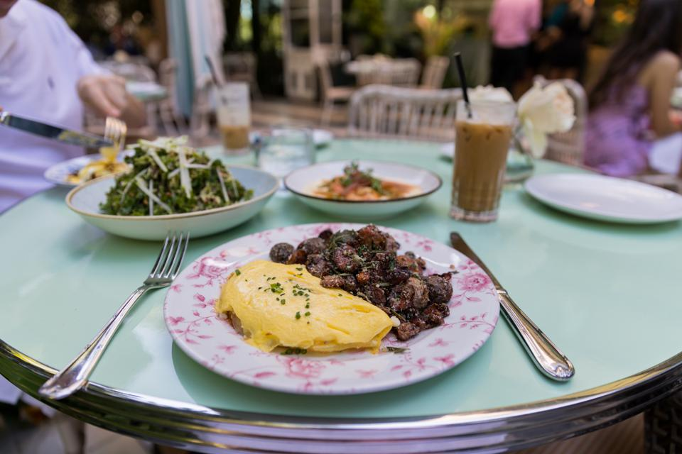 MIAMI, FL - An omelet at Swan in the Miami Design District