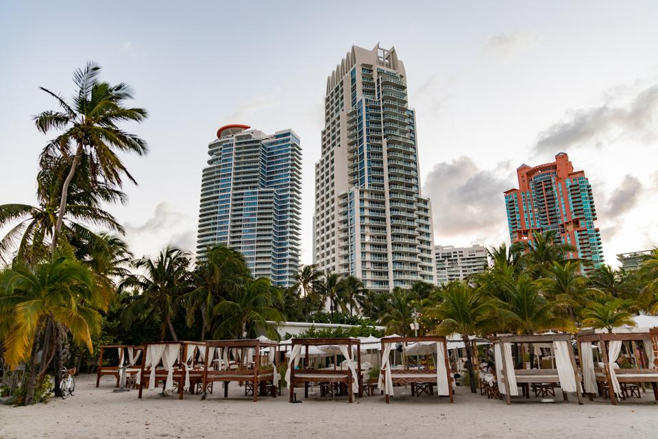 MIAMI BEACH, FL - View of Nikki Beach
