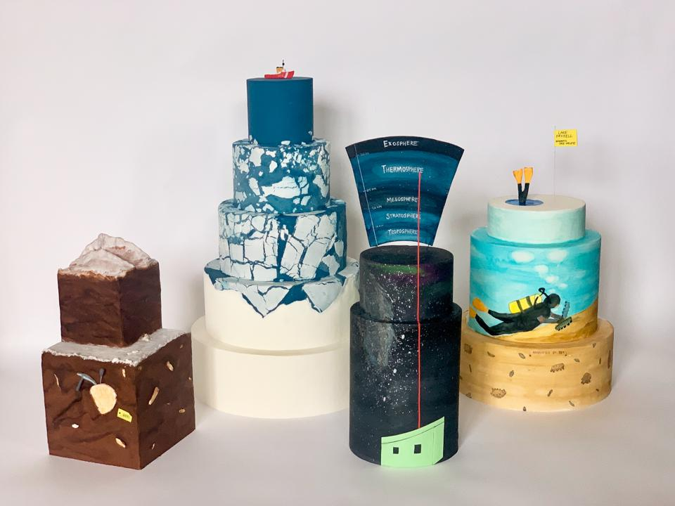Antarctice research cakes by Rose McAdoo
