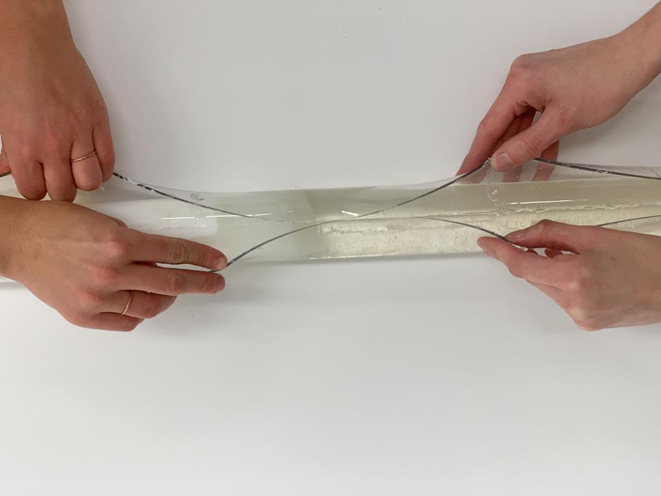Isomalt Ice Core Sample (unmolding)