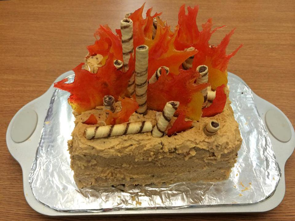 Forest fire cake