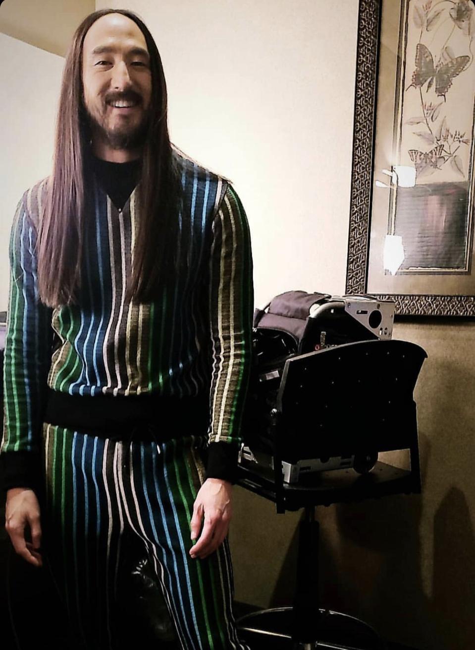 Muscian/DJ/RecordProducer/Music Executive-Steve Aoki wearing Joe Yellino