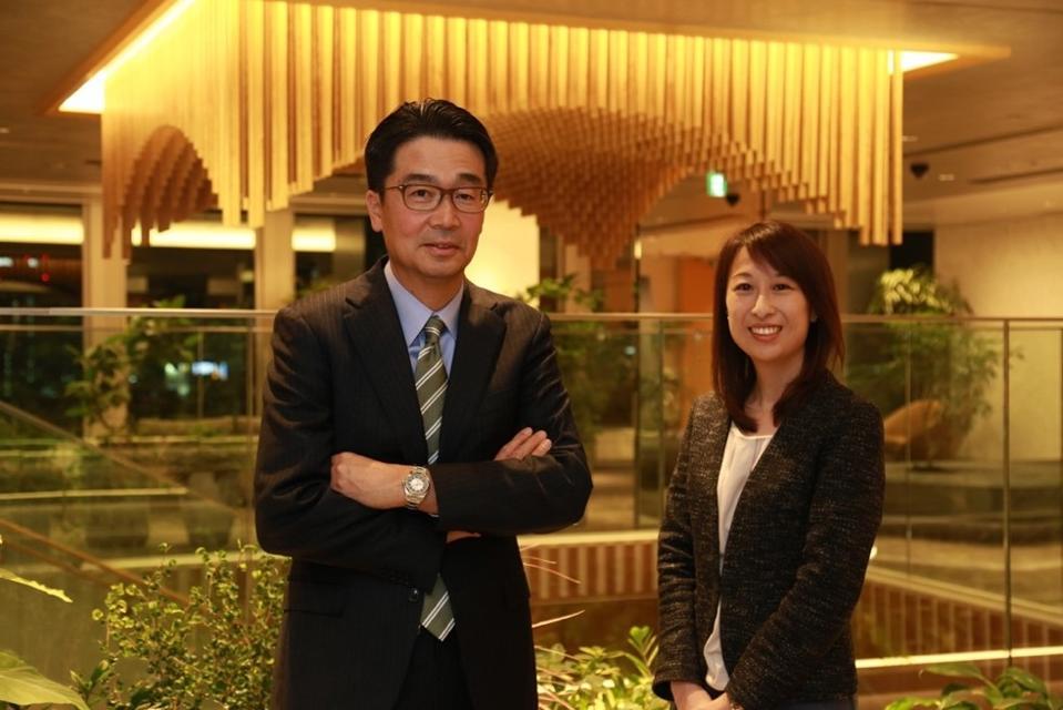 Kazunori Yamashita and Kaori Nishibayashi