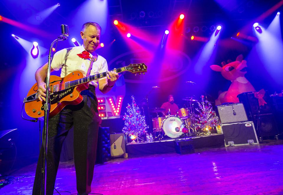 Jim Heath of the Reverend Horton Heat performs on opening night of the ″Horton's Holiday Hayride″ tour. Friday, November 29, 2019 at House of Blues in Chicago (Photo by Barry Brecheisen)